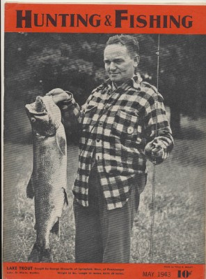 May 1943 Hunting & Fishing Magazine - Lake Trout Cover
